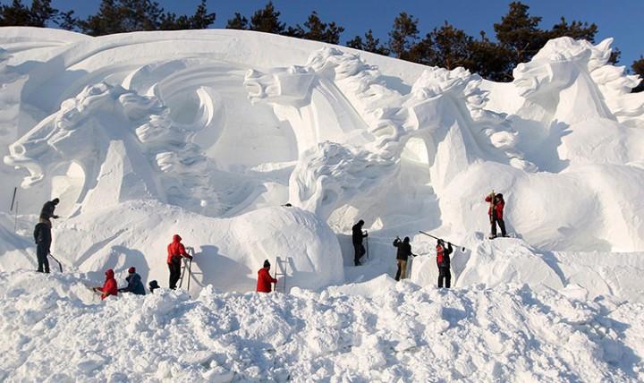 Фестиваль снега в Аргентине