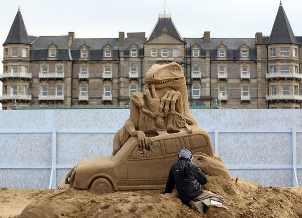 Фестиваль песчаных скульптур в Анталии
